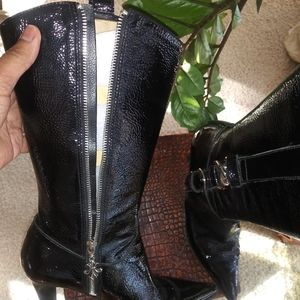 Nine West patent leather boot